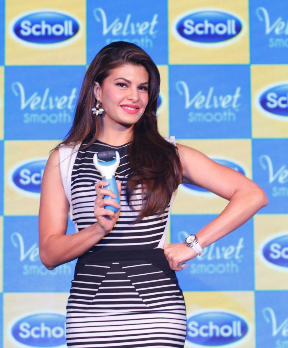 Jacqueline Fernandes at the launch of Scholl Velvet Smooth Express Pedi in India_